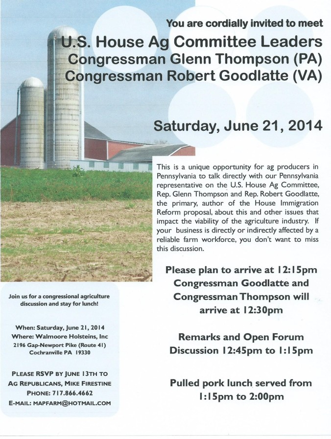 06.21.2014 PA Ag Rep Event