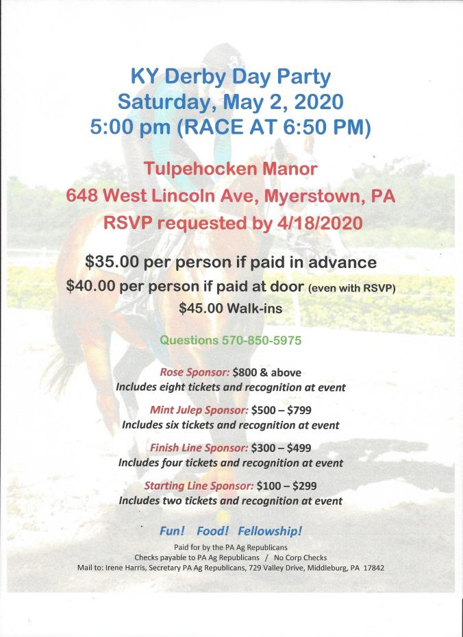 KY Derby Day Party Invite 2020